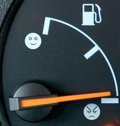 car humor funny joke road street drive fuel gas face meter