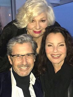 Cast of The Nanny reunites for Renee Taylor's 83rd birthday. From left: Charles Shaughnessy, Renée Taylor and Fran Drescher Charles Shaughnessy/Facebook
