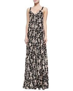 Printed Maxi Dress W/ Braided Straps by Thakoon Addition at Neiman Marcus.
