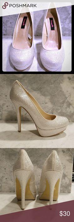 Betseyville rhinestone heels Like new . All rhinestones attached. 5.5 inch heel size 9 betseyville Shoes Platforms