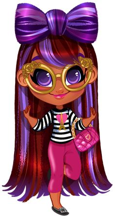 Hairdorables: Each doll package is a surprise – just pull, peel, and reveal 11 accessories and fashions that unwrap the unique personality, style, and talent of the Hairdorables girl hidden inside! Cartoon Clip, Cartoon Kids, Lol Dolls, Cute Dolls, Hot Pink Lips, Unicorn Pictures, Little Doll, Cute Cartoon Wallpapers, Pictures To Draw