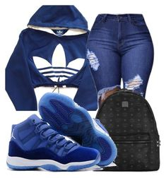 A fashion look from February 2018 featuring cropped hoodies, blue jeans and backpack bags. Browse and shop related looks. Jordan Outfits For Girls, Baddie Outfits Casual, Swag Outfits For Girls, Teenage Girl Outfits, Cute Swag Outfits, Cute Comfy Outfits, Girls Fashion Clothes, Teenager Outfits, Teen Fashion Outfits
