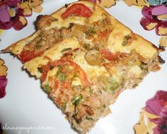 pedaço de bolo fofinho de atum Brunch, Good Food, Yummy Food, Quiche, I Am Awesome, Food And Drink, Dinner, Breakfast, Kitchen