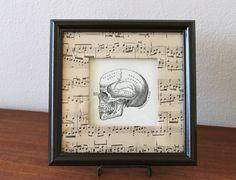 Skull Sheet Music Notes Framed Shadowbox by TheBlackSpruce on Etsy, $22.00