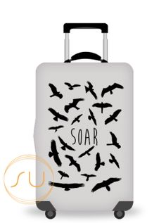 Luggage Cover African Antelopes Moon Protective Travel Trunk Case Elastic Luggage Suitcase Protector Cover