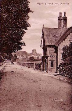 Upper Brook Street, Oswestry. #postcards