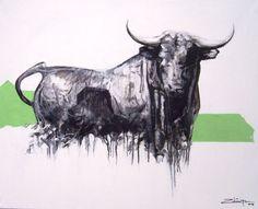Tercio de Pinceles Blog: Luis Zuñiga - Toro en el campo