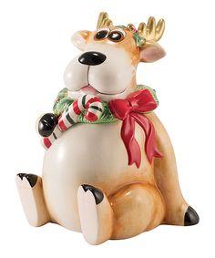 Love this Reindeer Cookie Jar by Fitz and Floyd on #zulily! #zulilyfinds