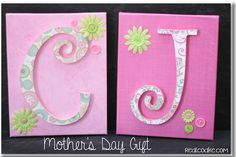 DiY Canvas Monogram Mother's Day Gift Tutorial
