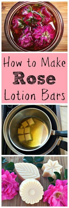 These lovely rose lotion bars are easy to make and a wonderful addition to your homemade bath and beauty projects!