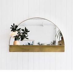 On my list for the bedroom ~ solid brass mirror by @popandscott ~ #australiandesign #sundaymornings