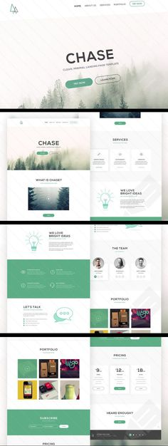Free Chase Landing Page PSD Template by Medialoot