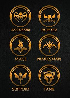 """League of Legends Roleplay Teambuilder [gold emblems]"" Art Prints by Naumovski 