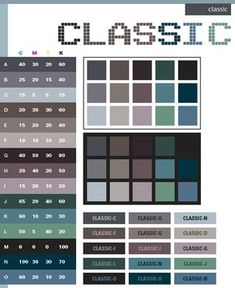 color combinations for graphic design   Classic color schemes, color combinations, color palettes for print ...