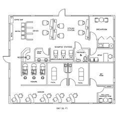 Beauty Salon Floor Plan Design Layout - 3375 Square Foot | Future ...