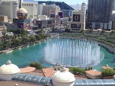 View from our honeymoon room in Augustus tower at Caesars Palace