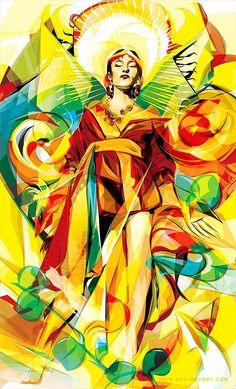 Ilustración vectorial y colorida de AYIB MAKMUN ARIF : ColectivoBicicleta | Revista digital /Artes visuales. ilustración y diseño Colombia y Latinoamerica