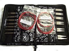 "ChiaoGoo Interchangeable Red Lace Twist complete needle 5"""