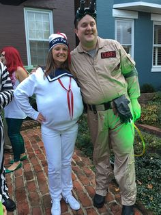 Ghostbusters Stay Puft Marshmallow Man DIY Halloween costume