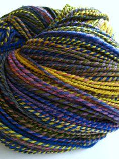 hand spun yarn, handspun yarn, hand dyed yarn, hand painted yarn, handpainted yarn, merino wool yarn, worsted aran weight, rainbow yarn