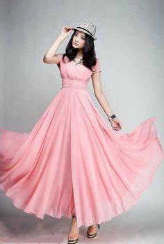 Spring Summer Chiffon Dress Lady Women Gown Custom / by handok, $79.00