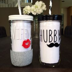 Hey, I found this really awesome Etsy listing at https://www.etsy.com/listing/202588044/personalized-bride-and-groom-tumblers