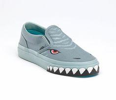 Vans classic slip-on shark shoes for kids