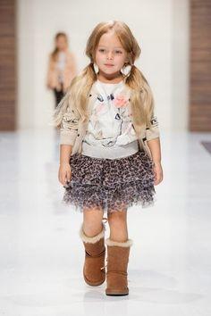 A little tiny fashion model!