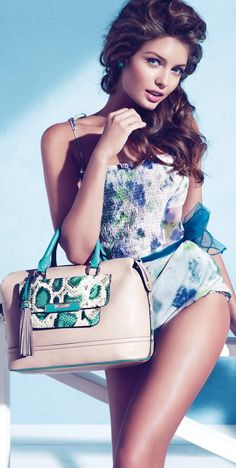Sandrah Hellberg for the Guess Accessories Holiday 2012 Campaign
