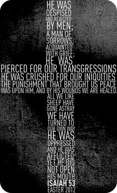 He was despised by men, Isa 53, bible, scripture verse, passage