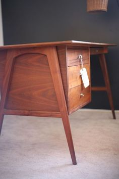 Mid Century Modern Desk Danish Teak                                                                                                                                                                                 More