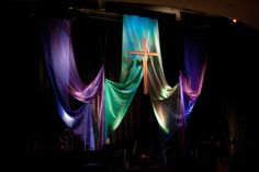 tulle for easter church stage design