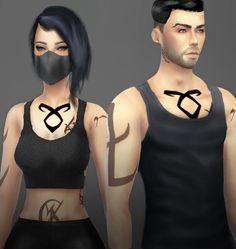 Onelama: SHADOWHUNTERS' RUNES TATTOO • Sims 4 Downloads