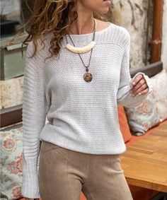 Treat yourself to the all-day comfort and warmth of this wool-blend sweater featuring a wide dolman-sleeve design. Size note: This item runs small. Ordering one size up is recommended. Sleeve Designs, Pulls, Winter Outfits, Winter Clothes, Amazing Women, Wool Blend, Autumn Fashion, Sweaters For Women, Beige