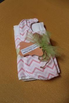 Bib and Burp Cloth Set $12