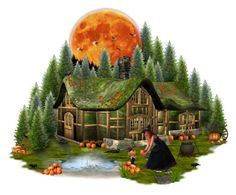 """""""The Pumpkin Moon"""" by girlinthebigbox ❤ liked on Polyvore featuring art"""