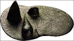 """The Etruscans used haruspicy (searching for omens in the entrails of animals) to predict the future. Etruscan fortunetellers were famed for their liver reading skills. After a sacrifice the body was opened up and the liver was read. It was divided into region which correspond with the constellations in the sky. A bronze liver unearthed by archaeologists at Piacenza was divided into forty regions, each marked with name of a different god. [""""World Religions"""" ed by Geoffrey Parrinder, New York]"""