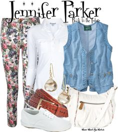 I want to be Jennifer Parker! Inspired by Claudia Wells and Elisabeth Shue as Jennifer Parker in the Back to the Future film trilogy. 80s Party Outfits, Cute Outfits, Movie Outfits, Fandom Outfits, Pretty Outfits, Cosplay Costumes, Halloween Costumes, Halloween Fashion, Halloween 2016