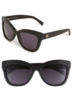 House of Harlow 1960 'Linsey' Sunglasses - Snake embossed leather