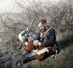 Zouave soldier, Algerian shooters integrated into the French army