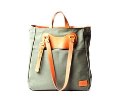 olive and tan ruc tote by j.panther luggage :: Roztayger :: Modern Bags & Accessories