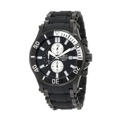 Invicta Men's 1480 Sea Spider Collection Scuba Chronograph Watch ($104) ❤ liked on Polyvore featuring jewelry, watches, chronograph wrist watch, chronograph watches, invicta watches, invicta wrist watch y chrono watches