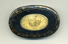 William Pitt, antique toleware snuff box, (c. 1790England)