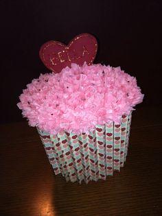 cupcake valentines box valentines cards and boxes pinterest box cards and craft - Cupcake Valentine Box