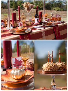 Thanksgiving Tablescape {by Courtney at Pizzazzerie.com} #thankgiving #howdoesshe