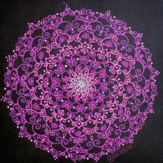 """Be there for other but NEVER leave yourself behind! """"Dignity """" 197/200 #mandala #zentangle"""