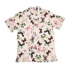 Petals and Peacocks ; Diversifly Vacation Shirt in Cream Teen Fashion Outfits, Boy Outfits, Mens Fashion, Short Sleeve Button Up, Button Up Shirts, Vacation Shirts, Collar Shirts, Men Casual, Unisex