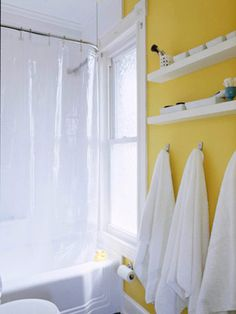 Quick & Easy Bath Storage  Bathrooms equal small spaces, high humidity, and lots of stuff. Here are clever ideas to order the chaos without breaking the bank.