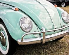 1966 Volkswagen Beetle Car Photography, Automotive, Auto Dealer, Muscle, VW, Sports Car, Mechanic, Boys Room, Garage, Dealership Art