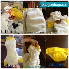 """I took some pictures to show you how I """"stuff"""" my diapers. How do you """"stuff""""? for more info just click here http://www.babybeduga.com/"""